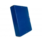 Liderpapel PJ92 - Carpeta de proyectos con gomas, tamaño folio, lomo de 90 mm, color azul