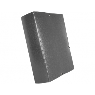 Liderpapel PJ93 - Carpeta de proyectos con gomas, tamaño folio, lomo de 90 mm, color gris