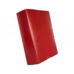 Liderpapel PJ95 - Carpeta de proyectos con gomas, tamaño folio, lomo de 90 mm, color rojo