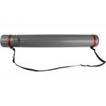 Liderpapel PP02 - Portaplanos plástico, diámetro de 9 cm, extensible hasta 125 cm, color gris