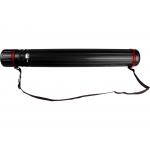 Liderpapel PP02 - Portaplanos plástico, diámetro de 9 cm, extensible hasta 125 cm, color negro