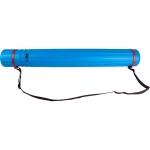 Liderpapel PP03 - Portaplanos plástico, diámetro de 9 cm, extensible hasta 125 cm, color azul