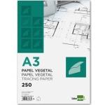 Liderpapel PV01 - Papel vegetal, A3, 90 gramos