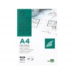 Liderpapel PV03 - Papel vegetal, A4, 95 gramos, bloc de 50 hojas