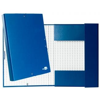 Liderpapel PY31 - Carpeta de proyectos con gomas, tamaño folio, lomo de 30 mm, color azul