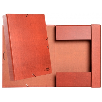 Liderpapel PY32 - Carpeta de proyectos con gomas, tamaño folio, lomo de 30 mm, color cuero