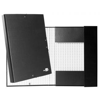 Liderpapel PY33 - Carpeta de proyectos con gomas, tamaño folio, lomo de 30 mm, color negro