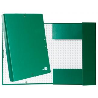 Liderpapel PY35 - Carpeta de proyectos con gomas, tamaño folio, lomo de 30 mm, color verde