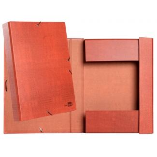 Liderpapel PY52 - Carpeta de proyectos con gomas, tamaño folio, lomo de 50 mm, color cuero