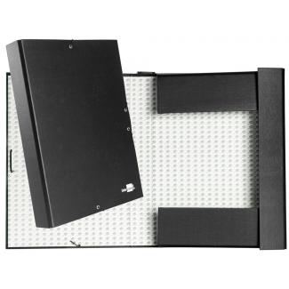 Liderpapel PY53 - Carpeta de proyectos con gomas, tamaño folio, lomo de 50 mm, color negro