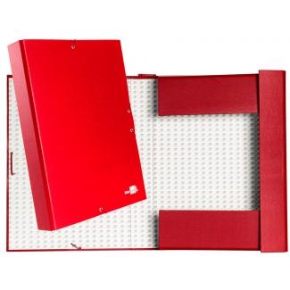 Liderpapel PY54 - Carpeta de proyectos con gomas, tamaño folio, lomo de 50 mm, color rojo