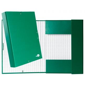 Liderpapel PY55 - Carpeta de proyectos con gomas, tamaño folio, lomo de 50 mm, color verde