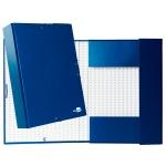 Liderpapel PY71 - Carpeta de proyectos con gomas, tamaño folio, lomo de 70 mm, color azul