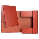 Liderpapel PY72 - Carpeta de proyectos con gomas, tamaño folio, lomo de 70 mm, color cuero
