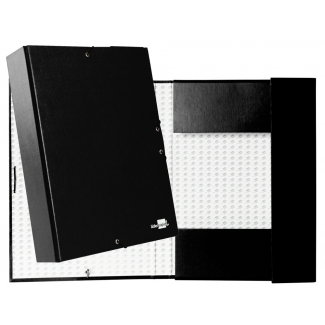 Liderpapel PY73 - Carpeta de proyectos con gomas, tamaño folio, lomo de 70 mm, color negro