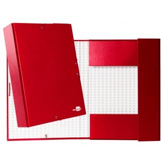 Liderpapel PY74 - Carpeta de proyectos con gomas, tamaño folio, lomo de 70 mm, color rojo