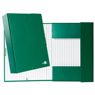 Liderpapel PY75 - Carpeta de proyectos con gomas, tamaño folio, lomo de 70 mm, color verde