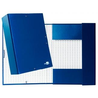 Liderpapel PY91 - Carpeta de proyectos con gomas, tamaño folio, lomo de 90 mm, color azul