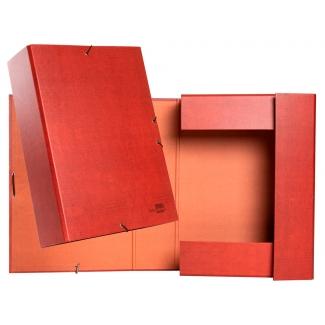 Liderpapel PY92 - Carpeta de proyectos con gomas, tamaño folio, lomo de 90 mm, color cuero