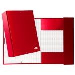 Liderpapel PY94 - Carpeta de proyectos con gomas, tamaño folio, lomo de 90 mm, color rojo