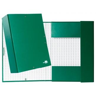 Liderpapel PY95 - Carpeta de proyectos con gomas, tamaño folio, lomo de 90 mm, color verde