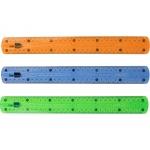 Liderpapel RG11 - Regla de plástico flexible, 30 cm, colores surtidos transparentes