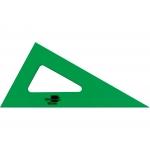 Liderpapel RN01 - Cartabón acrílico, sin graduación, cateto mayor de 16 cm, color verde