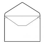 Liderpapel SB03 - Sobre Tarjeta de visita, tamaño 70 x 105 mm, solapa engomada, color blanco, caja de 100 unidades