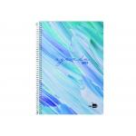 Liderpapel Syros - Agenda anual, tamaño 15 x 21 cm, impresión día página, tapa rígida, encuadernada con espiral, color azul