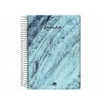 Liderpapel Syros - Agenda anual, tamaño 15 x 21 cm, impresión día página, tapa rígida, encuadernada con espiral, piedra