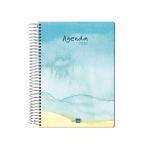 Liderpapel Syros - Agenda anual, tamaño 15 x 21 cm, impresión día página, tapa rígida, encuadernada con espiral, playa