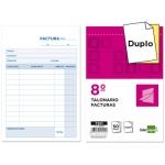 Liderpapel T201 - Talonario facturas, tamaño 8º, 50 juegos, original + copia