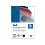 Liderpapel TE12 - Tapa de encuadernación, A4, polipropileno, 800 micras, color negro opaco, paquete de 50