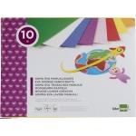 Liderpapel TM06 - Bloc de trabajos manuales, goma eva, 240 mm x 315 mm, 10 hojas, colores surtidos