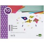 Liderpapel TM08 - Bloc de trabajos manuales, papel seda, 240 mm x 315 mm, 10 hojas, colores surtidos