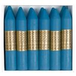 Manley 20 - Ceras blandas, caja de 12 unidades, color azul cobalto