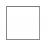 Meto 8552101 - Rollo de etiquetas, lisa, cuadrada, 29 x 28 mm, color blanco