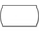 Meto 9133325 - Rollo de etiquetas, lisa, ondulada, 26 x 12 mm, color blanco