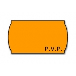 Meto 9156367 - Rollo de etiquetas, impresión PVP, romovible, 22 x 12 mm, color naranja flúor