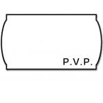 Meto 9156368 - Rollo de etiquetas, impresión PVP, 22 x 12 mm, color blanco