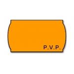 Meto 9156371 - Rollo de etiquetas, impresión PVP, 22 x 12 mm, color naranja flúor