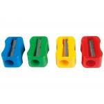 Mor 03060000 - Sacapuntas de plástico, colores surtidos