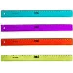 Mor 11300150 - Regla de plástico, 30 cm, colores surtidos