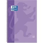 Oxford European Book 1 - Bloc espiral, tamaño A4, tapa dura, 80 hojas de 90 gr, cuadrícula de 5 mm, sin margen, microperforado, 4 taladros, color lila