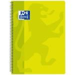 Oxford Classic - Bloc espiral, tamaño folio, tapa de polipropileno, 80 hojas de 90 gr, cuadrícula de 4 mm, con margen, color lima