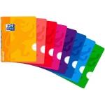 Oxford OpenFlex - Libreta grapada, tamaño A4, tapa de plástico, 48 hojas de 90 gr, rayado horizontal, sin margen, colores surtidos