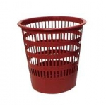 Papelera plástico Cep ecoline rejilla roja 30x30x31,7 cm