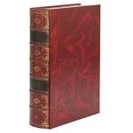 Pardo 237005 - Caja libro de cartón, color burdeos