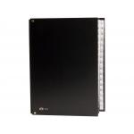 Pardo 83101 - Carpeta clasificadora con gomas, tamaño folio, 31 departamentos, color negro
