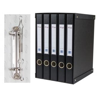 Pardo 924501 - Módulo de 5 archivadores, tamaño folio, 2 anillas de 25 mm, color negro